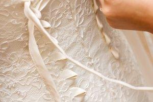 brides back in wedding