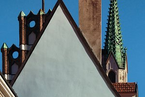 Roofs and spiers. Riga