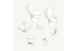 Bathroom and toilet equipment and accessories.