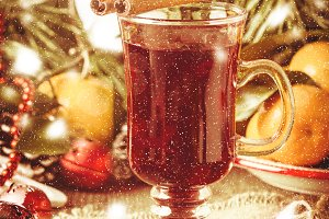Traditional winter mulled wine