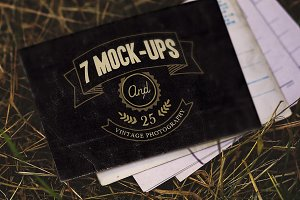 7 vintage mock-ups + 25 photos