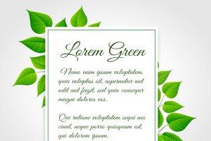 Fresh green leaf border