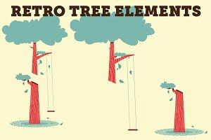 Retro Tree Elements