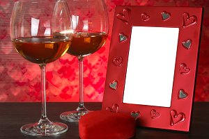 Valentines day. Romantic still-life.