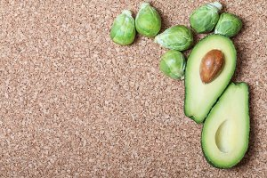avocado and sprouts