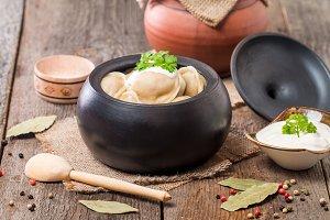 Meat Dumplings - russian pelmeni