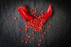 Chili pepper with red bell pepper