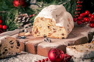 Traditional German Christmas cake