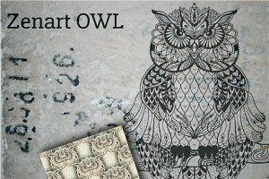 Zentangle Owl designed templates