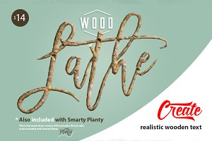 Wood Lathe - Real wood text maker