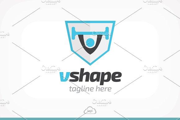 Vshape Gym Logo Template