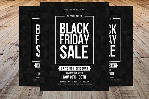 Minimal Black Friday Flyer Template