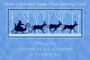 Santa Claus Xmas Greeting Card