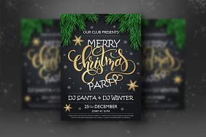 Christmas Party Lettering Posters
