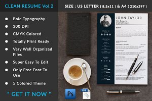 CLEAN RESUME Vol.2