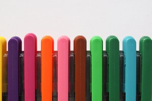 Coloured marked pens