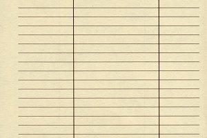 Blank address book