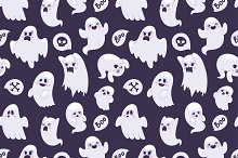 Cartoon spooky semless pattern