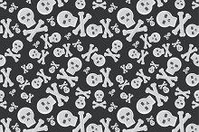 Cartoon skull semless pattern vector