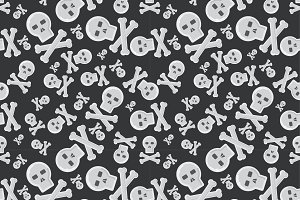 Cartoon skull semless pattern vector
