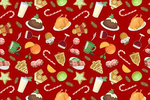 Traditional christmas food pattern