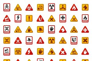 Attention icons vector