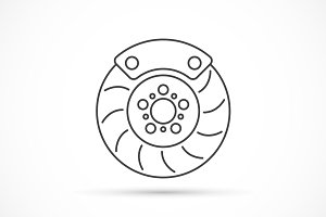 Brake disc outline icon