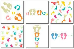 Footprints and palmprints