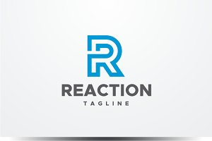 Reaction - Letter R Logo