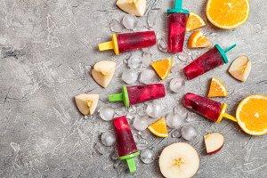 Sangria popsicles