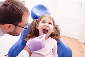 The reception at the dentist