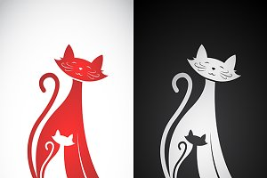 Vector image of an cat design