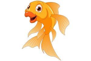 Little funny goldfish
