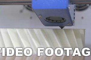 3D printing equipment making white