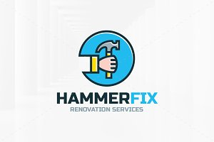 Hammer Fix Logo Template