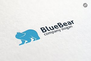 Blue Bear Logo Templates