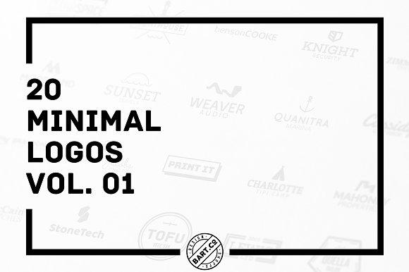20 Minimal Logos vol. 01 - Logos