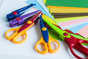 many different shaped scissors