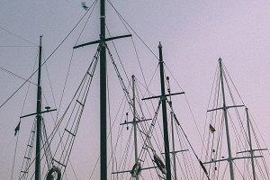 Sailing Boats at Dusk