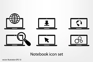 Notebook icon set