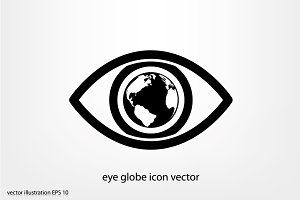 eye globe icon vector