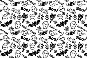 Cute Kawaii Halloween Pattern
