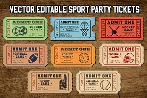 Vector Sport Tickets Templates