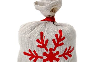 Small linen bag with gifts