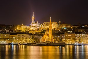Night view of the Budapest, Hungary.
