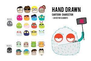 HAND DRAWN MONSTER/CARTOON VECTOR