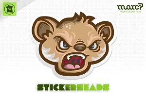 """Raging Koala"" Stickerhead"