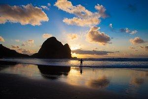 Piha beach in New Zealand
