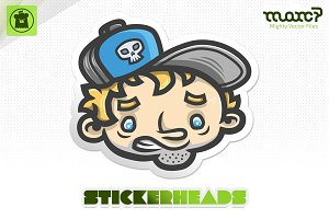 """Panic Pete"" Stickerhead"