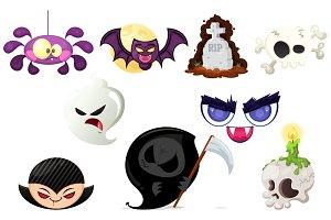 Various Halloween Stickers
